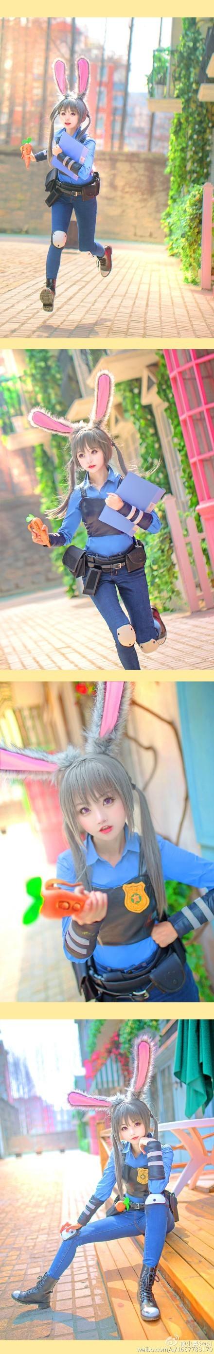 【捕鱼王】超萌美少女「小柔SeeU」 COS拟人化《动物方城市》萌爆你的心
