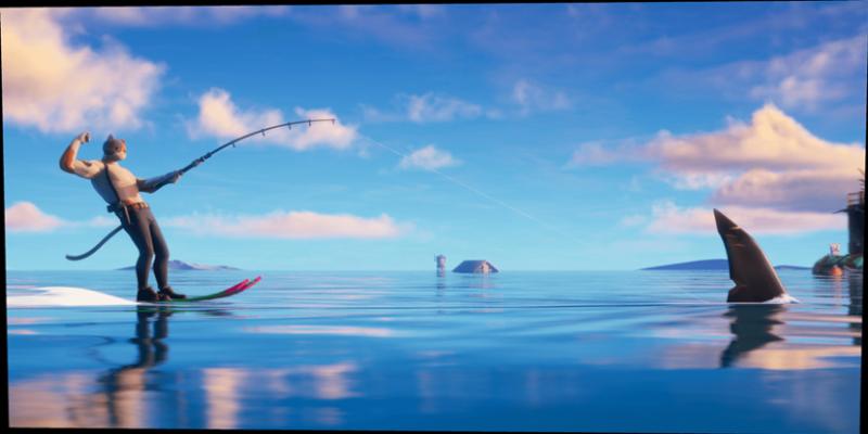 """【捕鱼王】想和鲨鱼一起快乐玩耍吗?来《堡垒之夜》试试""""争霸水世界""""!"""