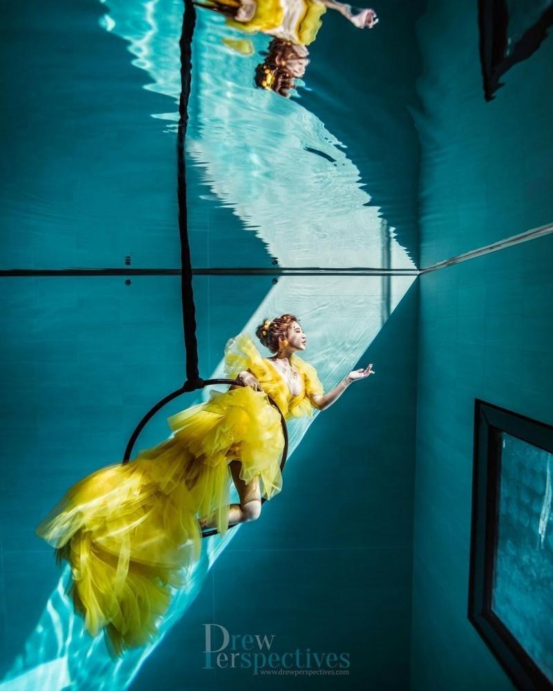 【捕鱼王】潜水教练「柔e」人鱼公主姿态好优雅水底下的火辣身材太性感