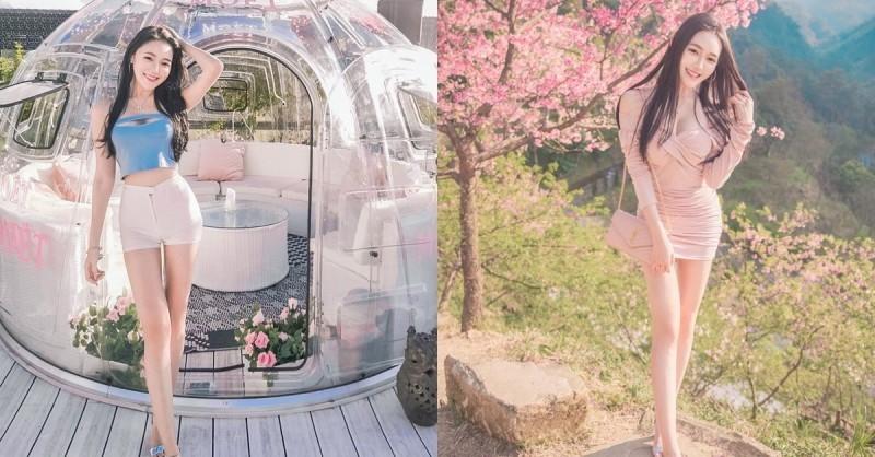 【捕鱼王】樱花树下出现神之长腿!「莉薇Livia」阳光笑颜比花还耀眼!